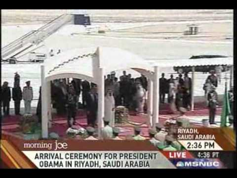 Barack Obama Arrives In Riyadh Saudi Arabia