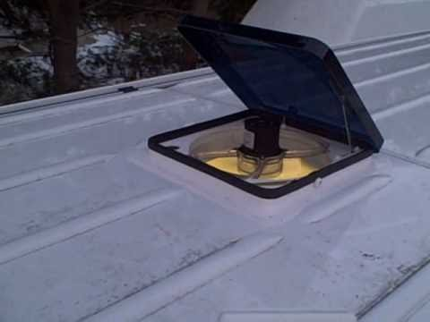 The Fan-tastic roof vent installed in a Sprinter, by Cyclevan