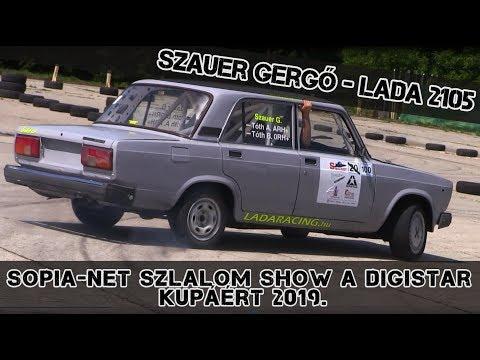 Szauer Gergő-Lada 2105 Sopia-Net Szlalom Show 2019.