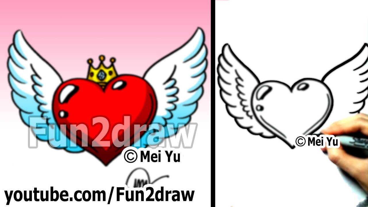 How to Draw a Heart  StepbyStep Tutorial  Easy Drawing