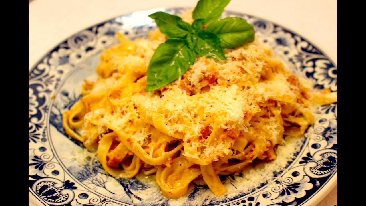 Вкусная паста карбонара рецепт