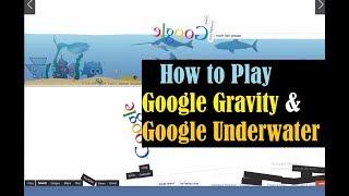 Google Tricks- Google Gravity- Google Underwater/Gravity Google- Underwater Google, mr. doob- elgoog