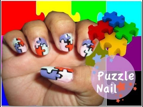 Puzzle nail art tutorial