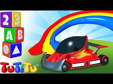 TuTiTu Przedszkole | Nauka Kolorów Po Angielsku Dla Dzieci | Kolorów Wyścigówki