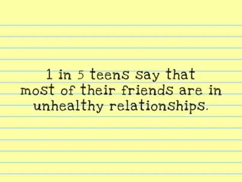 Signs of unhealthy teenage relationship