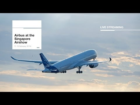 Singapore Air Show 2014 - Wednesday 12 February, Airbus A350 Flying demo - uncut version