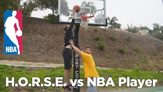 Trick Shot H.O.R.S.E. vs NBA PLAYER! *Loser Gets Pie To Face!*