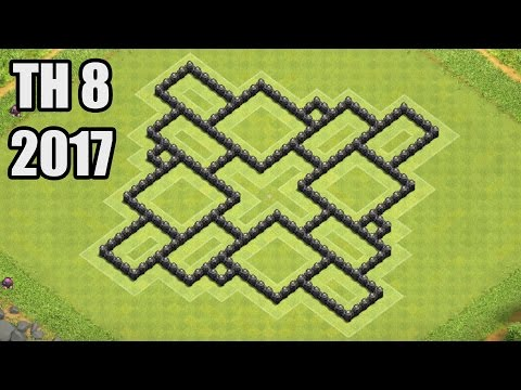 Clash of Clans - Town hall 8 (Th8) Farming Base & Hybrid Base 2017