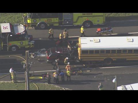 Three hurt in Plant City school bus crash on SR-60, including one student