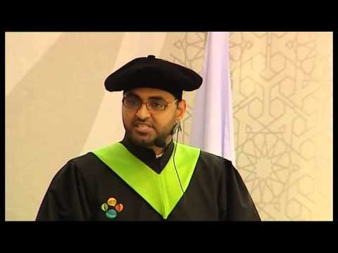 KAUST 2011 graduation ceremoney student speaker