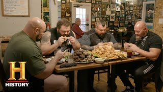 The Strongest Man in History: Chicken Wing Eating Contest | Exclusive | History