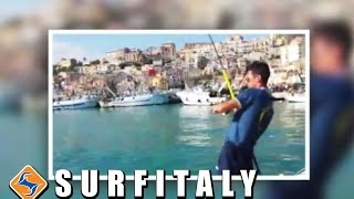 Spigola da molo portuale con canna da pesca Powered 130 Surfitaly