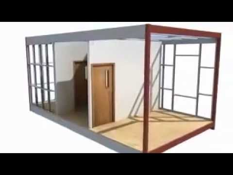 www.prefabrik.az-Konteyner ofislerin yigilmasi