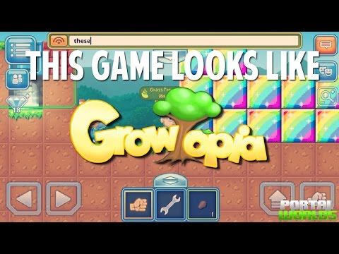 THIS GAME IS SO SIMILAR TO GROWTOPIA! | Portal Worlds
