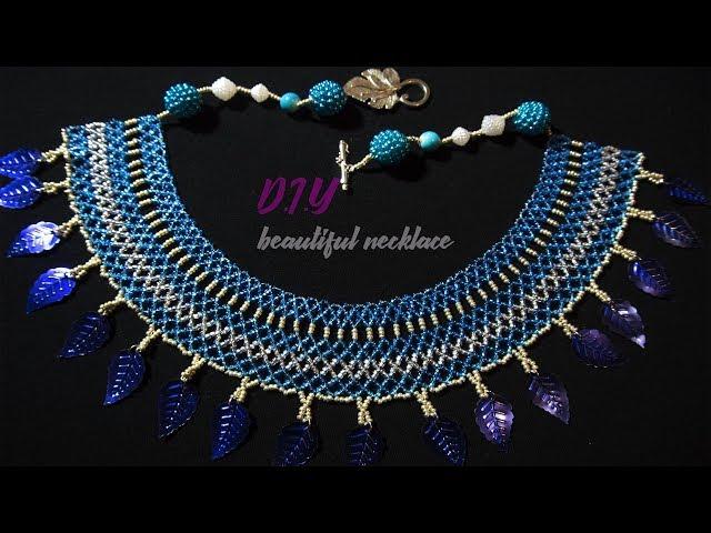 DIY: Колье из бисера.Бисероплетение. Necklace from beads. Master class