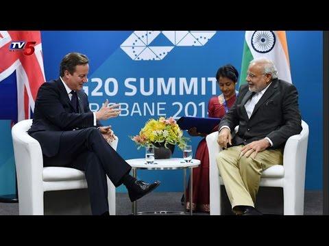 Narendra Modi meets UK PM David Cameron : TV5 News