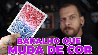 APRENDA A MÁGICA DO BARALHO QUE MUDA DE COR (Curso de Mágica com BARALHO)
