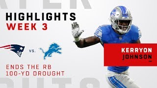 Lions First 100-Yd Rusher Since 2013, 70 Games, is Kerryon Johnson!