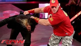 Dean Ambrose taunts Seth Rollins: Raw, Sept. 29, 2014