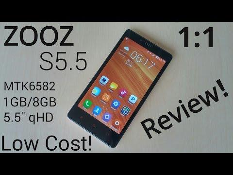 ZOOZ S5.5 MTK6582 1GB/8GB - Xiaomi Redmi Note 1:1 Clone - Review!