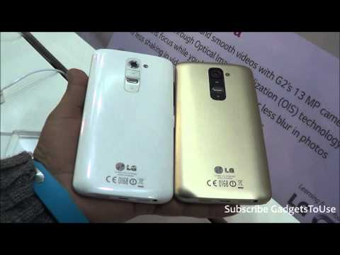 Gold LG G2 Hands on and Comparison With White LG G2 at LG Tech Show 2014