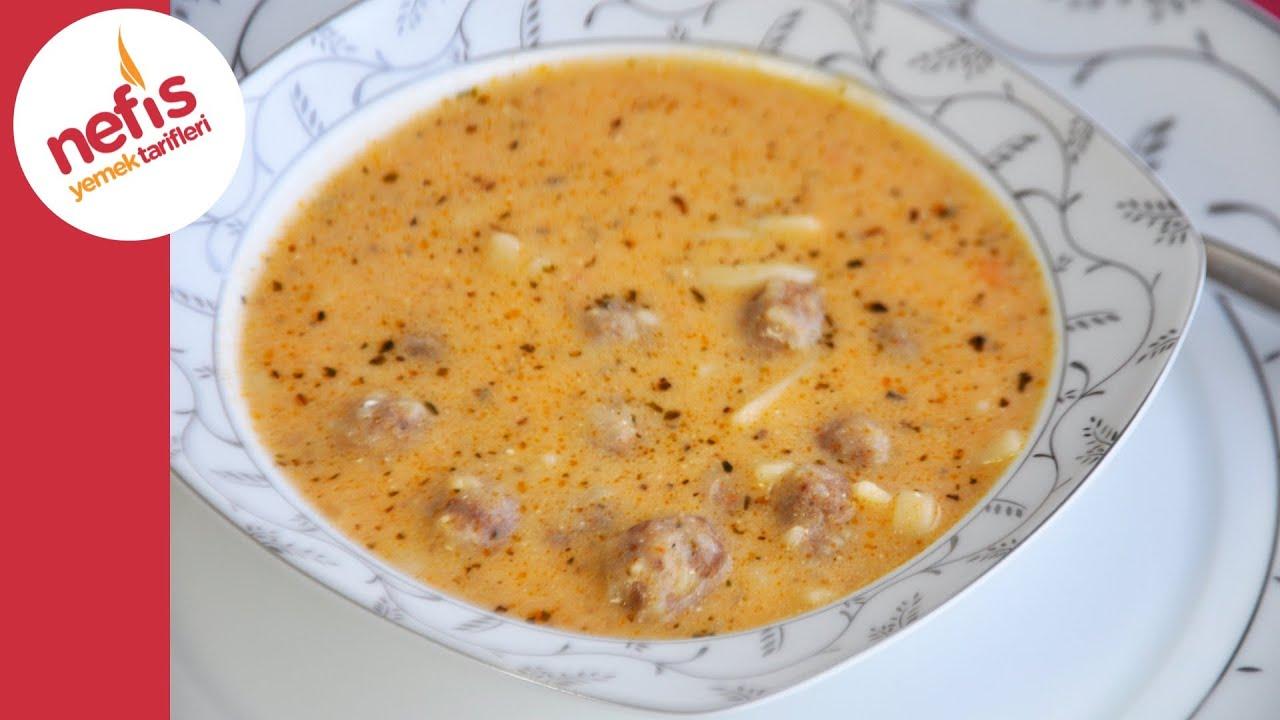 Erişteli Köfte Çorba Tarifi   Nefis Yemek Tarifleri - YouTube