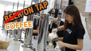 SALTED EGG LATTE! | Most unique cafe in Bangkok! (ไข่เค็มลาเต้ กาแฟแนวใหม่ร้านยูเรก้า)