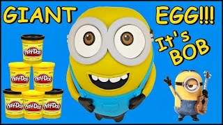 GIANT MINION BOB PLAY DOH SURPRISE EGG  Opening and Figure Set + Minions Funko Mystery Minis