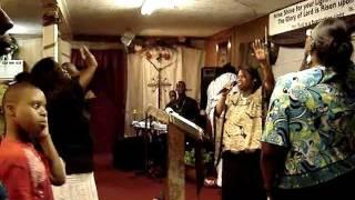Prophetess Danielle Richardson preaching