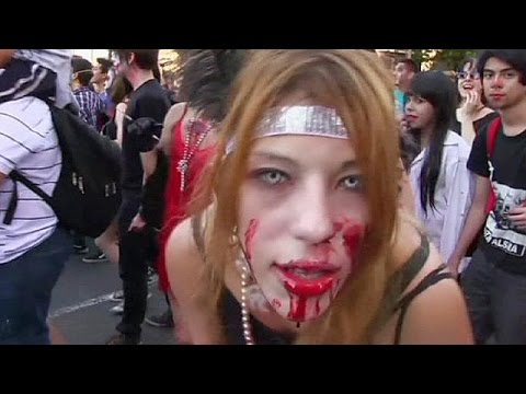 Thousands of zombies take to the streets of Buenos Aires - no comment