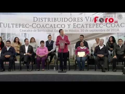 Enrique Peña Nieto inaugura distribuidores viales en Coacalco