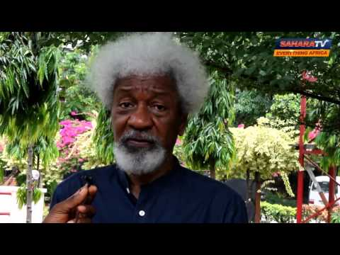 """I Know Those Behind The Plot To Form An Interim Government""-Prof Wole Soyinka"