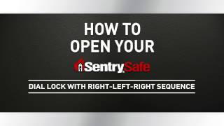 How to Open a Sentry®Safe Combination Dial Fire Safe, with Right-Left_Right Sequence