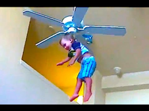 Hang the baby from the ceiling fan!