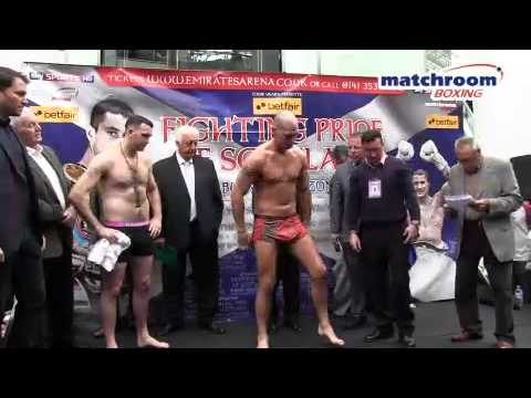 Betfair's 'Fighting Pride of Scotland' full weigh-in