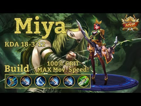 Mobile Legends: Miya MVP, 100% Crits + Max Movement Speed + High Attack Speed!