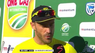 Faf du Plessis praises the young players