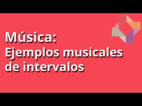Ejemplos musicales de intervalos - Música - Educatina