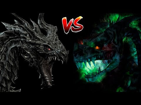 КТО СИЛЬНЕЕ #3: Алдуин VS Дракон-Нежить   Skyrim   Готика 2   DAMIANoNE