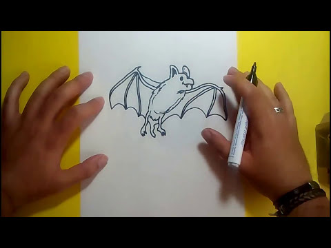 Como dibujar un murcielago paso a paso 5 | How to draw a bat 5