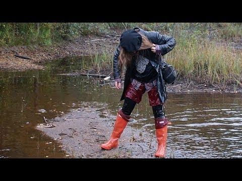 wet autumn walk in hunter wellies youtube