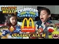 Skylanders Swap Force HAPPY MEAL TOYS from McDonald's - Surprise box unboxing ALL 8 Toys!