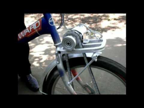 Электровелосипед из двигателя дворника