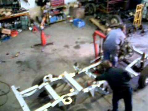 Land Rover Defender 110 Chassis Change Youtube