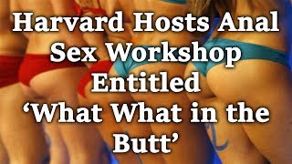 Harvard Hosts Anal Sex Workshop Entitled 'What What in the Butt'