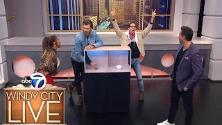 "Rhett & Link play ""gimme a hand"" on Windy City LIVE"