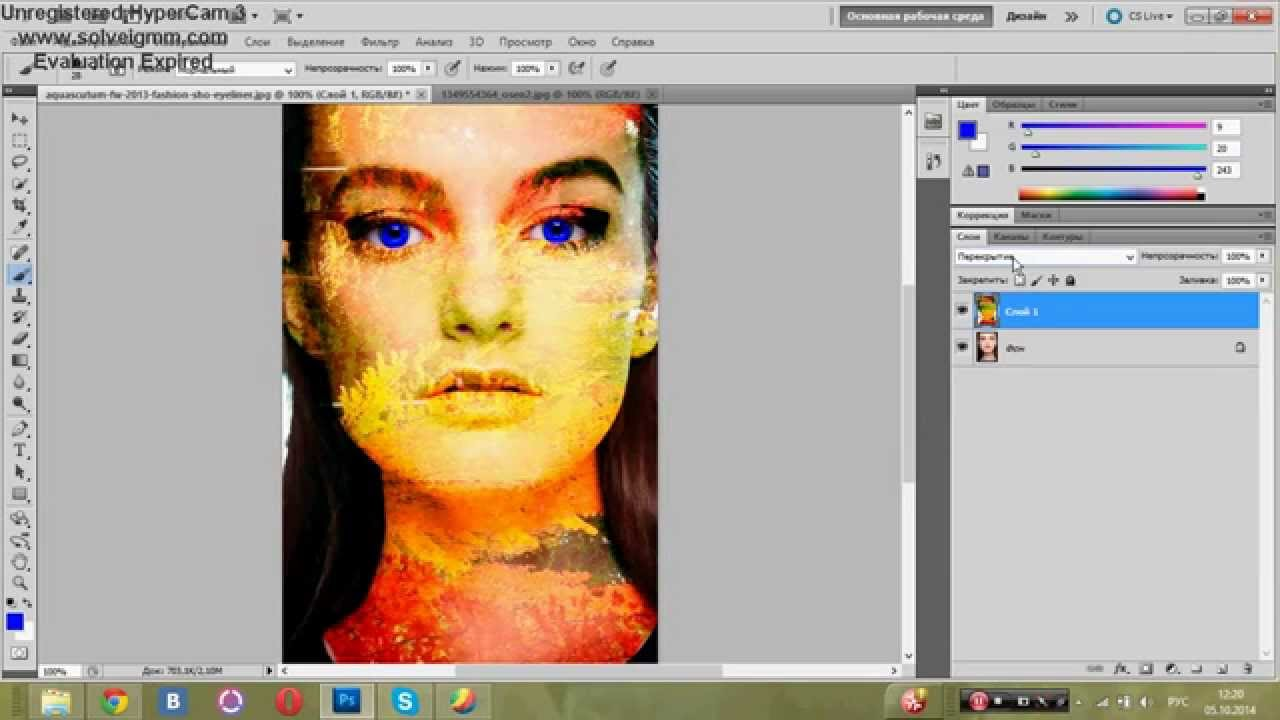 Макияж помощью фотошопа