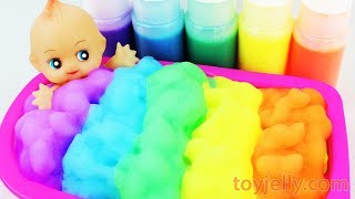 Learn Colors Body Paint Baby Doll Color Foam Bubble Bath Time Baby Finger Song Kids Nursery Rhymes