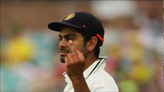 Virat Kohli's controversial middle finger at Sydney crowd(SCG,Day 2,2nd test).flv