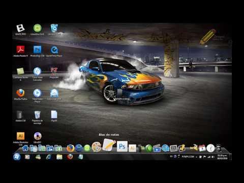 Tuto Windows 7 Centrar iconos de la barra de tareas